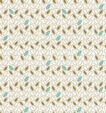 Modern floral pattern. Seamless background with decorative rows of leafs Royalty Free Stock Image