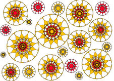 Modern floral petalled  abstract design on white background Stock Photography