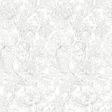 Modern floral seamless pattern for your design. Vector. Background. Royalty Free Stock Image