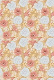 Modern floral seamless pattern for your design. Vector. Background. Royalty Free Stock Photo