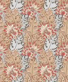 Modern floral seamless pattern for your design. Vector. Background. Stock Photos