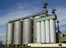 Modern flour mill Royalty Free Stock Images