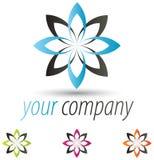 Modern Flower Logo Royalty Free Stock Photos