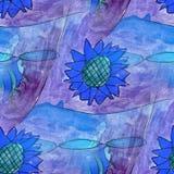 Modern flower seamless watercolor artist wallpaper texture of ha Stock Images
