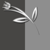 Modern flower  template for Your design. Stock Photography
