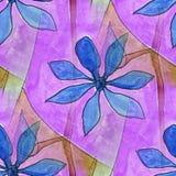 Modern flowers seamless  watercolor artist wallpaper texture of Stock Photography