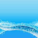 Modern flowing shapes background Royalty Free Stock Image