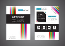 Modern flyer design Royalty Free Stock Photos