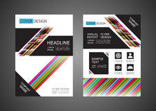 Modern flyer design Stock Photography