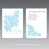 Modern flyer design template Royalty Free Stock Image