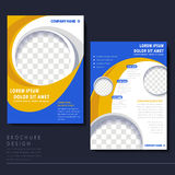 Modern flyer template for business concept Stock Images