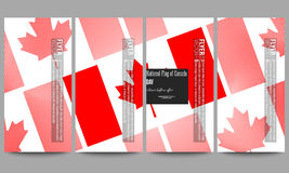 Modern flyers set. National Flag of Canada Day. Abstract dotted vector background Royalty Free Stock Photo