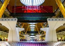 Modern flygplats i Madrid fotografering för bildbyråer