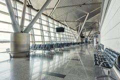 Modern flygplatsterminal Royaltyfri Foto