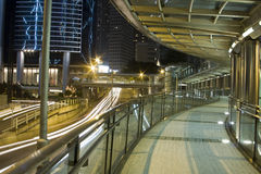 Modern flyover. A modern flyover at night Stock Image