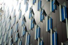 Modern fönsterdesign Arkivfoto