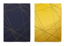 Modern folder collection with contemporary art-deco style line p stock illustration