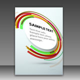 Modern folder template with bright round circle de Stock Photo