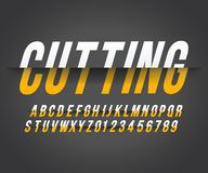 Font cut effect royalty free illustration