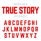 Modern font Stock Image