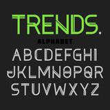 Modern font Trends, alphabet Stock Photos