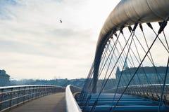 Modern footbridge, Krakokw Stock Photography