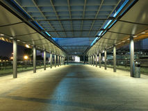 Modern Footbridge at Night Stock Images