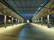 Modern Footbridge at Night. Modern Foot Bridge in Hong Kong Central at Night Stock Images