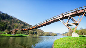 Modern footbridge Royalty Free Stock Image