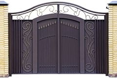 Modern  forged  gates. Royalty Free Stock Image