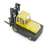 Modern forklift isolated on white background. 3d render image Royalty Free Stock Photography