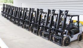 Modern forklift truck Stock Image