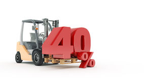 Modern forklift truck with 40 percent Stock Photos