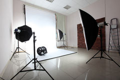 modern fotostudio Fotografering för Bildbyråer