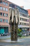 A modern fountain, city centre, Nuremberg, Middle Franconia, Bav Stock Image