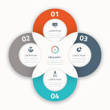 Modern four infographic  options business template icons. Eps10 Stock Photo