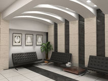 Modern foyer interior Stock Photo