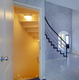 Modern foyer. View of staircase to basement Royalty Free Stock Photography