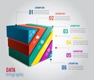 modern för vektorbaner för mall 3D infographics Arkivfoto