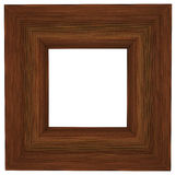 Modern Frame. A 3D Modern wooden Picture frame isolated on white background Stock Image
