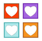 Modern frame-colorful heart-01 Stock Photo