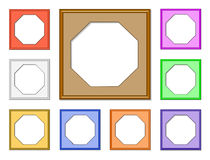 Modern frame-octagon01 Stock Photos