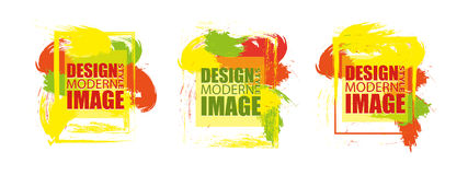 Modern frame for text. Dynamic geometric colorful design elemen. Ts. Vector illustration Royalty Free Stock Photography