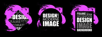Modern frame for text. Dynamic purple design elements. Vector. Illustration Royalty Free Stock Photo