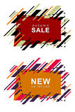 Modern frames autumn sale Royalty Free Stock Photography