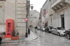 Modern framsida av den forntida staden av Mdina på ön av Malta royaltyfri fotografi