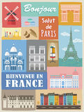 Modern France poster Stock Images