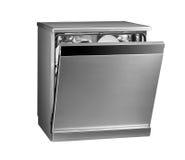 Modern freestanding dishwasher. Isolated on white background royalty free stock image