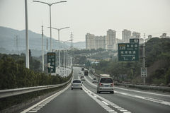 Traffic on highway, Shenzhen, China Royalty Free Stock Photos