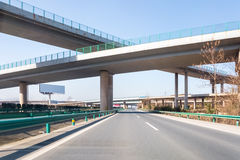 Modern freeways with highway overpass Stock Images